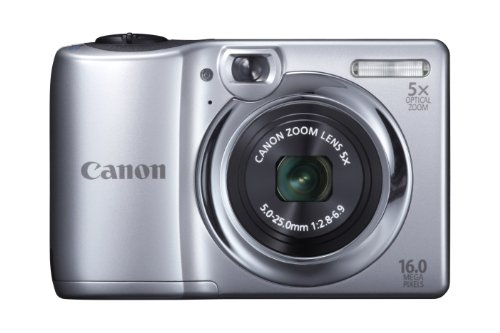 Canon PowerShot A1300 IS 16.0 MP Digital Camera with 5x Digital Image Stabilized Zoom 28mm Wide-Angle Lens with 720p HD Video Recording (Silver)